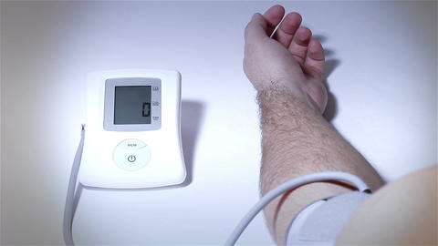 Checking Blood Pressure 18 stylized Stock Video Footage