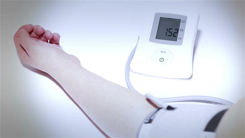 Checking Blood Pressure 20 stylized Stock Video Footage