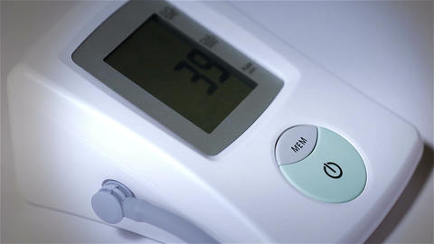 Checking Blood Pressure 26 closeup stylized Stock Video Footage