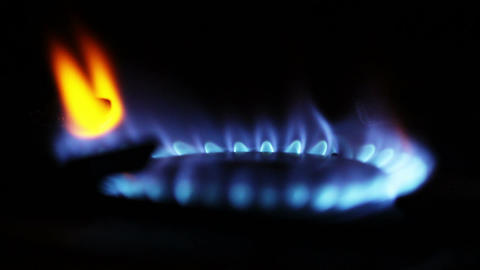 Gas Flames 02 closeup Stock Video Footage