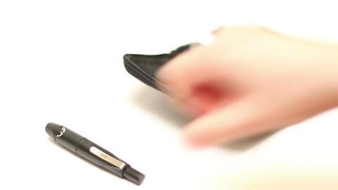 Preparing Blood Glucose Test 01 Footage