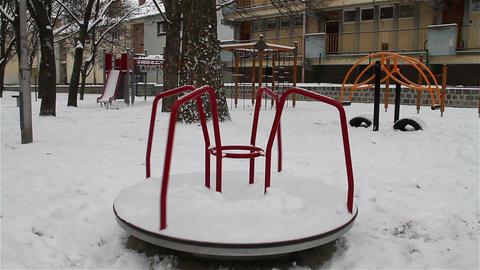 Snowy Suburb 10 playground Footage