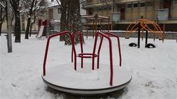 Snowy Suburb 10 playground Stock Video Footage