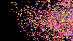confetti transition Stock Video Footage