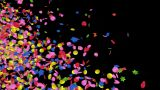 Confetti Transition stock footage