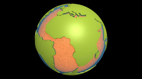 continental drift atlantic magma Animation