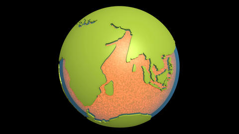 continental drift pacific magma Animation