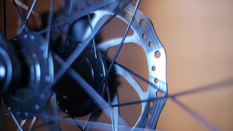 Bicycle Hub & Disc Brake 01 Stock Video Footage