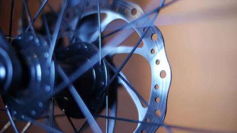 Bicycle Hub & Disc Brake 01 Stock Video Footage