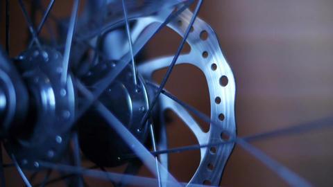 Bicycle Hub & Disc Brake 03 Stock Video Footage
