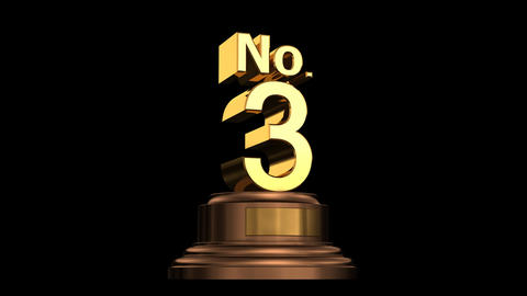 Number Trophy No 01-06A HD Animation