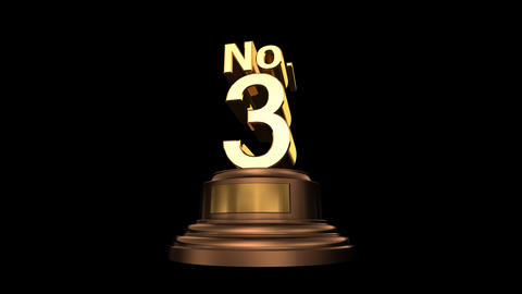Number Trophy No 01-06C HD Animation
