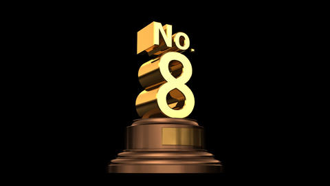 Number Trophy No 07-12G HD Stock Video Footage