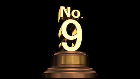 Number Trophy No 07-12G HD Animation