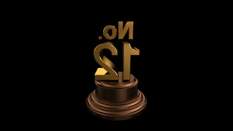 Number Trophy No 12 HD Stock Video Footage