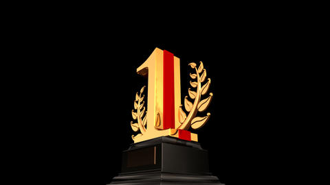 Number Trophy Prize 01b HD Animation