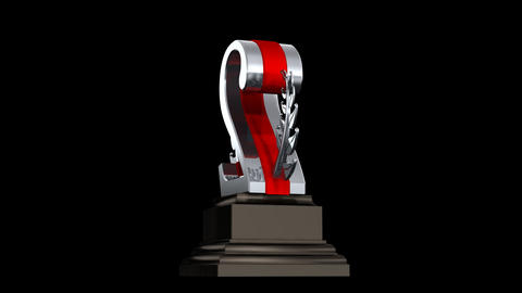 Number Trophy Prize 02b HD Stock Video Footage