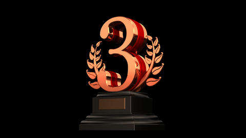 Number Trophy Prize Ab HD Stock Video Footage