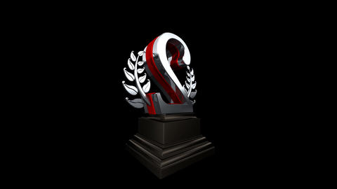 Number Trophy Prize Bb HD Stock Video Footage