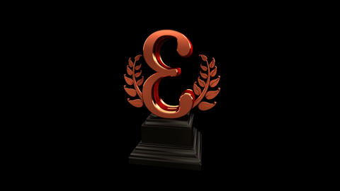 Number Trophy Prize Cb HD Stock Video Footage
