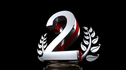 Number Trophy Prize E HD Stock Video Footage