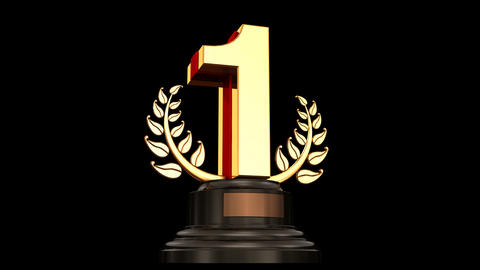 Number Trophy Prize G HD Stock Video Footage