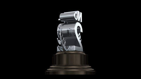 Number Trophy Prize No A HD Stock Video Footage