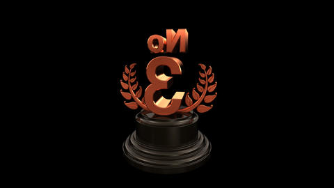 Number Trophy Prize No C HD Stock Video Footage