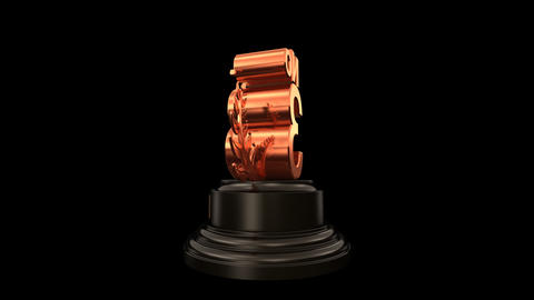 Number Trophy Prize No C HD Animation