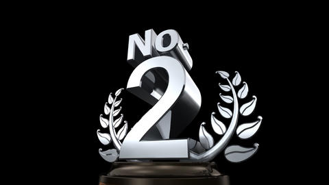 Number Trophy Prize No E HD Stock Video Footage