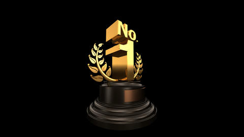 Number Trophy Prize No 01 HD Stock Video Footage