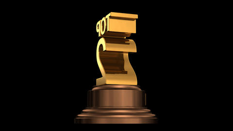 Number Trophy Top 02 HD Stock Video Footage