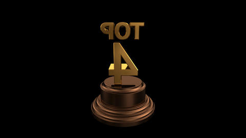 Number Trophy Top 04 HD Stock Video Footage