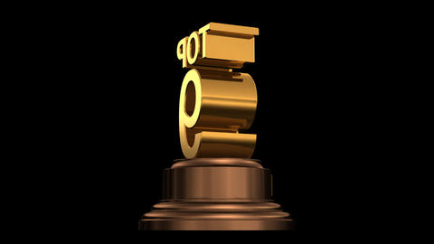 Number Trophy Top 06-10A HD Stock Video Footage