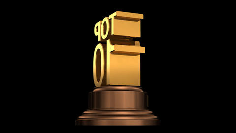 Number Trophy Top 06-10A HD Animation