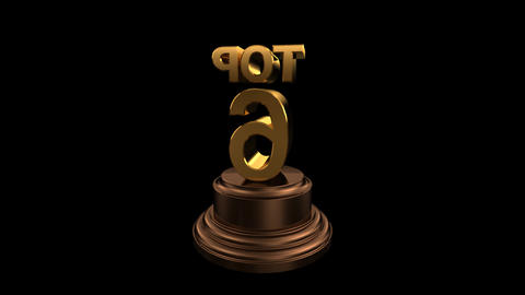 Number Trophy Top 06-10C HD Stock Video Footage