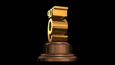 Number Trophy Top 09 HD Stock Video Footage