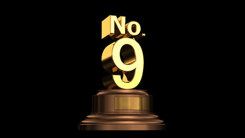 Number Trophy No 07-12A HD Stock Video Footage