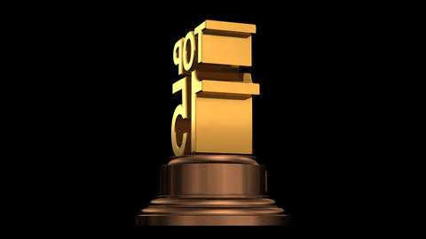 Number Trophy Top 15 HD Stock Video Footage