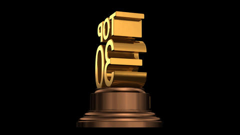 Number Trophy Top 30 HD Stock Video Footage