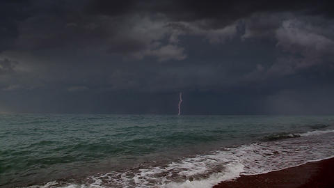 Storm at sea Stock Video Footage