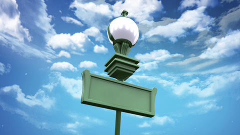 street lamp and blue sky low angle Stock Video Footage