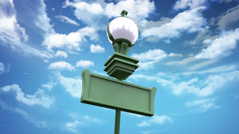 street lamp and blue sky low angle Animation