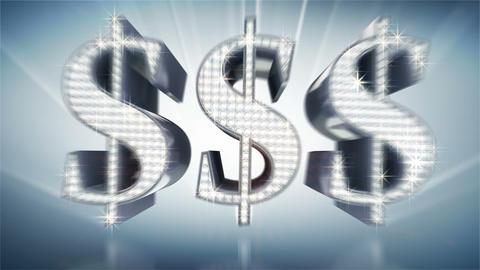 diamond dollars Stock Video Footage