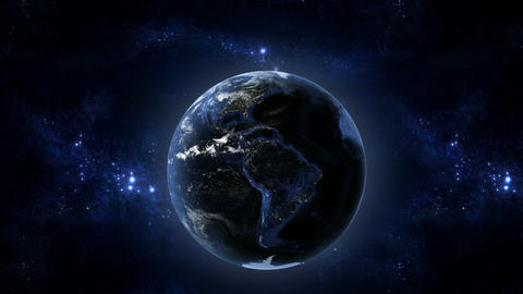 Earth at night Stock Video Footage
