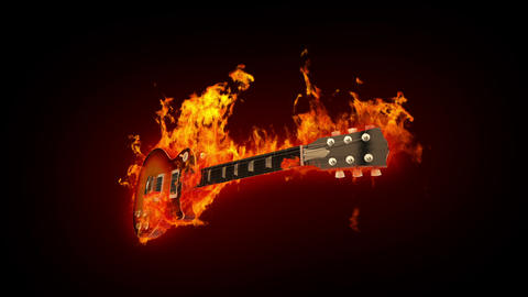 Fire guitar Stock Video Footage