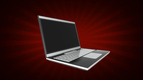 Opening laptop computer Animation