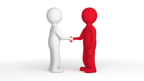 Two people shaking hands Animation