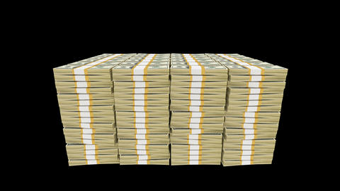 Money Bundles Stock Video Footage