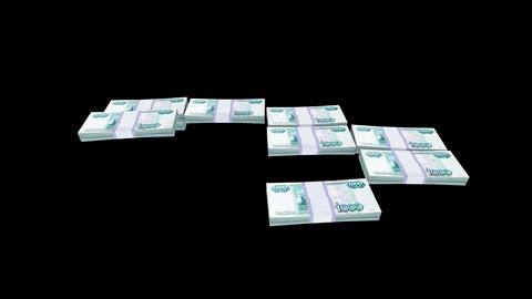 Money Bundles Stock Video Footage